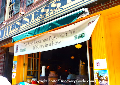 Hennessey's Irish Pub in Boston near Faneuil Marketplace