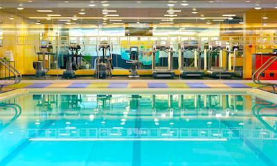 Swimming pool at Boston's Hyatt Regency Hotel