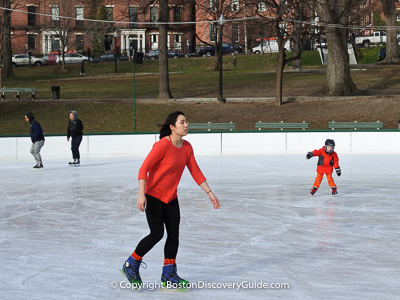 Boston attractions: Ice skating rinks in the city