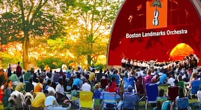 Boston concerts take place outside during the summer