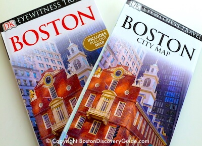 Pull out Boston map from Eyewitness Travel Boston Guide