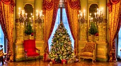 Newport Mansion at Christmas tour