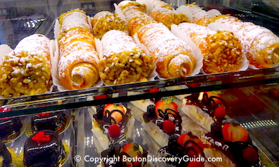 Italian pastries at Modern Pastry in Boston's North End