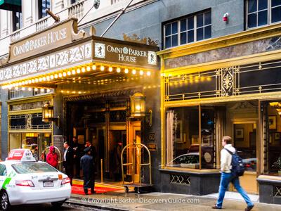 Historic Omni Parker Hotel in Boston