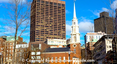 Boston's Freedom Trail:  Park Street Church