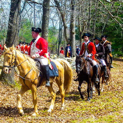 British reenactors on Boston's Patriot Day