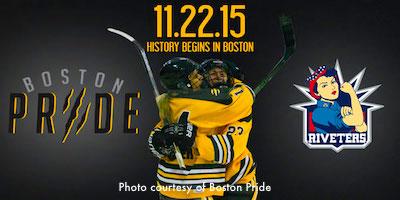 Boston Pride - women's professional hockey team home game schedule
