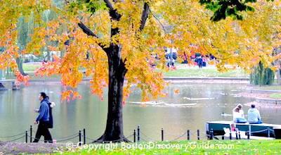 Fall foliage in Boston's Public Garden