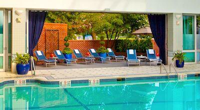Indoor swimming pool at Royal Sonesta Hotel in Cambridge, MA
