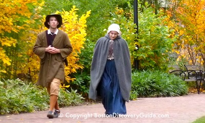 Guides in colonial costumes Salem MA