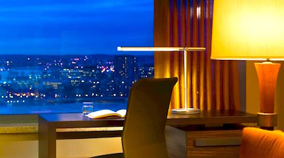 Sheraton Boston room with view of Charles River from window