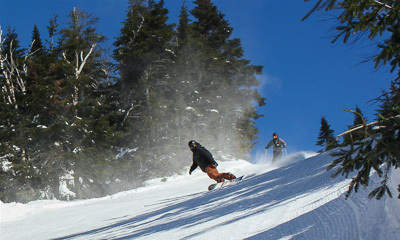 New England ski areas include Vermont's Bolton Valley Resort