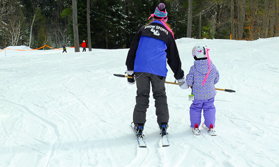 New England ski areas include Lost Valley in Maine