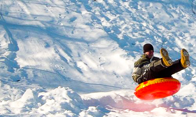 Tubing at Mount Jefferson Ski Area in Lee, Maine