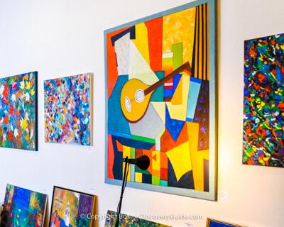 Artist studio in Boston's South End