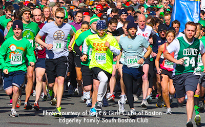 St Patrick's Day 5K race in South Boston