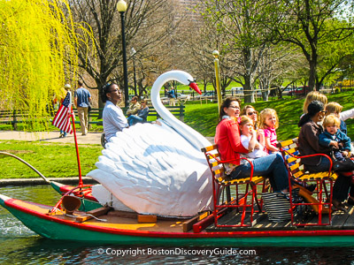 Boston attractions: Swan boats