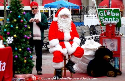 Globe Santa - Boston December event