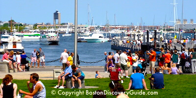 Columbus Park on Boston's Downtown Waterfront