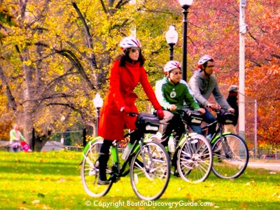Boston fall foliage bike tour