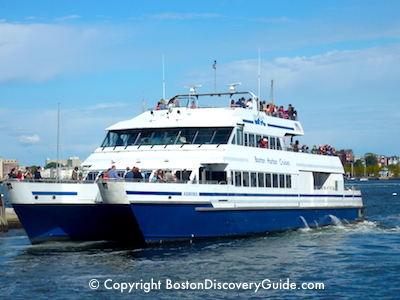 Boston Harbor Island cruise boat