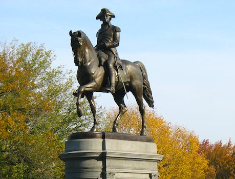 George Washington Statue in the Public Garden, Boston MA