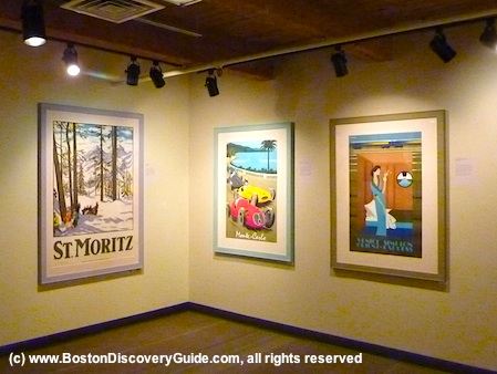 Photo of more 20th century vintage travel posters at Grand Circle Gallery