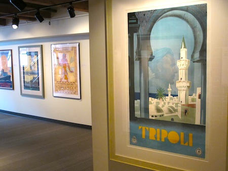 Posters in the Travels through Africa show at the Grand Circle Gallery