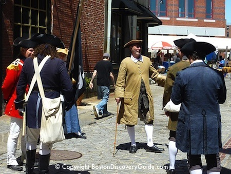 Boston Harborfest festures Colonial reenactors