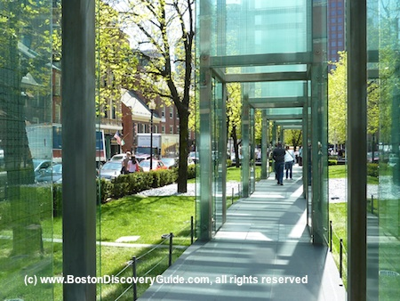 New England Holocause Memorial near Freedom Trail in Boston