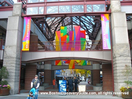 Entrance to Faneuil Marketplace in historic downtown Boston