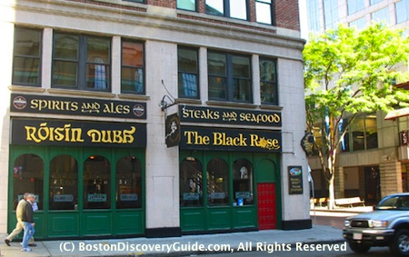The Black Rose is one of the most popular Boston Irish pubs