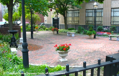 Small Park in Bay Village, Boston MA