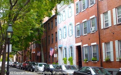 Bay Village Federal-era houses in Boston, MA