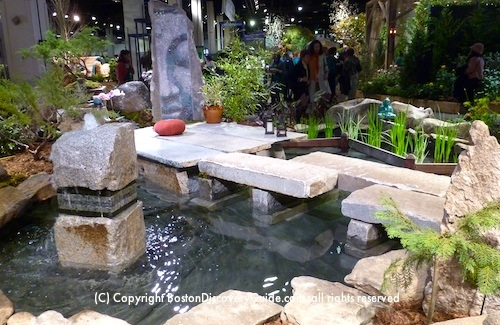 Japanese Garden at the Boston Flower and Garden Show Exhibit
