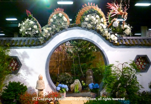 Chinese Moon Gate Garden at the Boston Flower and Garden Show Exhibit