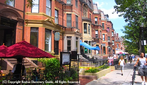 Newbury Street in Boston's Back Bay neighborhood