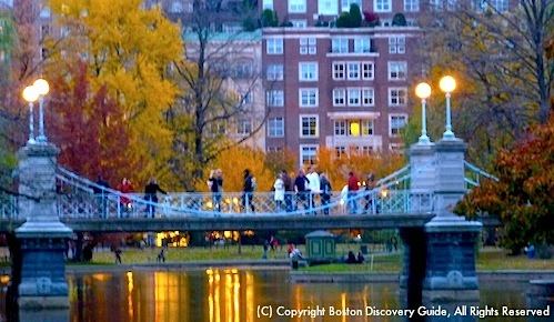 Boston event calendar for November - Suspension Bridge in Boston Public Garden