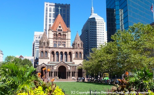 Boston Discovery Guide - photo showing Trinity Church in Copley Square