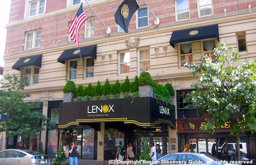 Photo of Boylston Street Entrance to Lenox Hotel