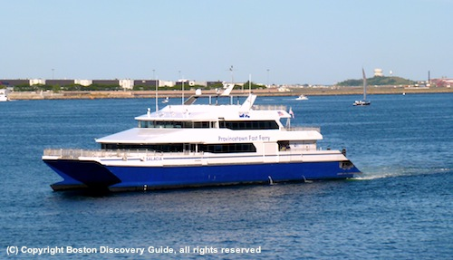 Picture of the Provincetown fast ferry in Boston Harbor