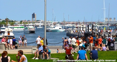 Boston Harbor, scene of many June activities and events - www.boston-discovery-guide.com