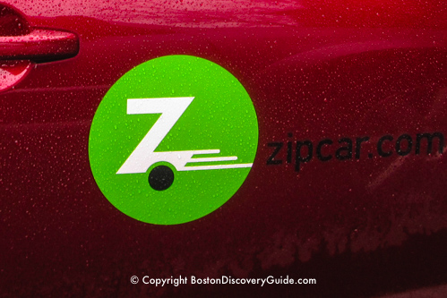 Zipcar rentals in Boston