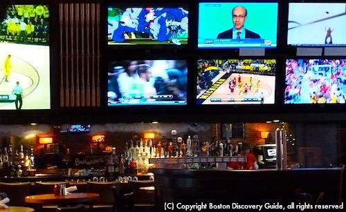 Many Boston sports bars are near TD Banknorth Garden