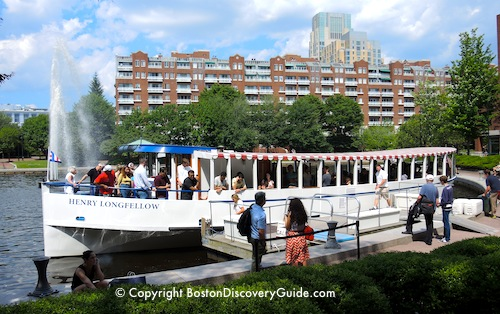 Charles River Cruise Boat getting ready to sail