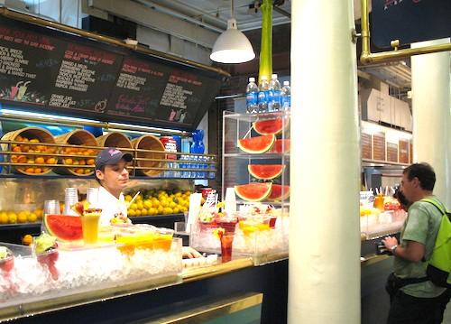 Quincy Market fresh fruit stall in Boston, Massachusetts, USA