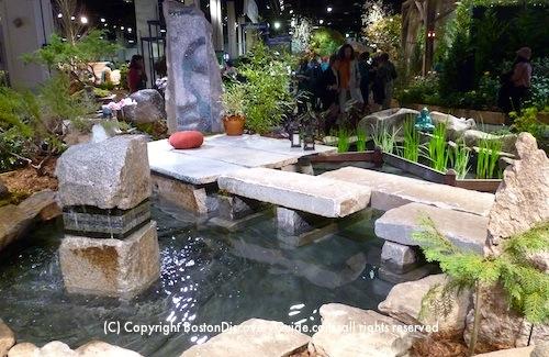 Japanese Garden at the Boston Flower and Garden Show Exhibit