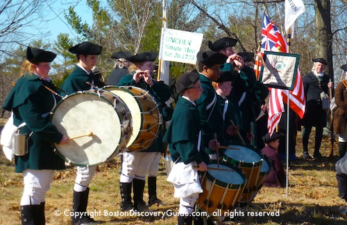 Patriots Day Schedule - Fife and Drum Corp, Lincoln Minute Men