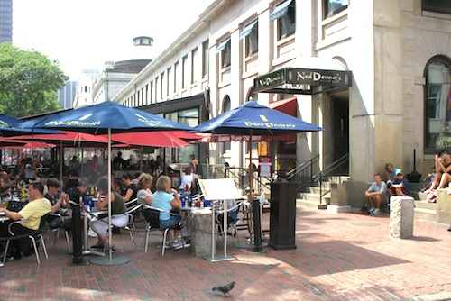 Photo of outdoor dining at Ned Devine's, in Boston, Massachusetts, USA