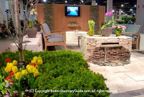 Outdoor Seating Garden Exhibit